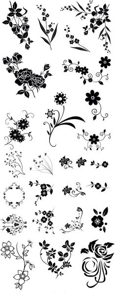 Line drawing swirl flower pattern vector graphic / Silhouette Cameo, Stencils, Motif Floral, Flower Template, Kirigami, Pyrography, Amazing Flowers, Flower Patterns, Flower Pattern Drawing