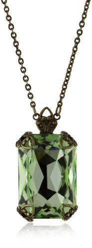 "Sorrelli ""Sweet Dreams"" Large Emerald Cut Crystal Pendant Necklace Sorrelli,http://www.amazon.com/dp/B004SL4FT4/ref=cm_sw_r_pi_dp_ewGnsb18C60M5ZZ6"