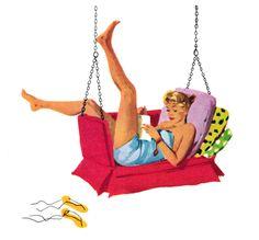 Lazy Days, 1950s Illustration