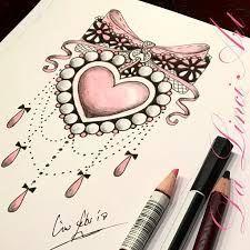 Resultado de imagen para jewelled heart tattoo