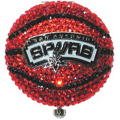 Jeweled Spurs Basketball Compact. Bling.