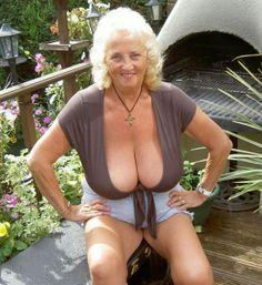 Lingerie big models Granny brunette tits