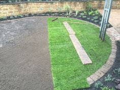Lawn turfing, Bodicote, Banbury, Oxfordshire Lawns, Lawn Care, Stepping Stones, Sidewalk, Outdoor Decor, Green, Stair Risers, Lawn Maintenance