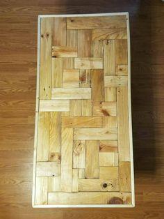Reciclado madera mesa de centro mesa de por ReclaimLouisville