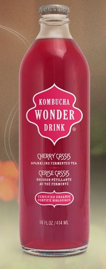 Kombucha Wonder Drink: sparkling fermented tea. It is marketed as a health drink that detoxifies and energizes the body. It also, in my opinion, tastes and smells horrible.