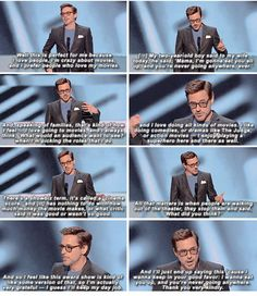 RDJ's acceptance speech at the People's Choice Awards, 2015.