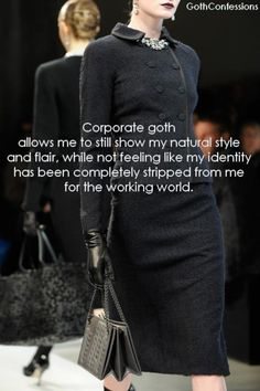 """Why is """"Corporate Goth"""" an important and relevant style? Here's why. - JVH"""