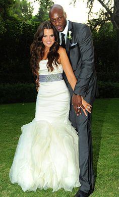 Khloe Kardashian & Lamar Odom celebrity wedding, themarriedapp.com hearted <3
