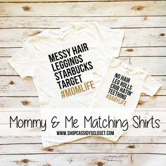 Mommy and Me Outfit. Matching Sparkle Shirt Set. Women's semi-fitted t shirt and baby girl onesie. #Momlife| Browse our entire selection of mommy & me shirts at www.shopcassidyscloset.com