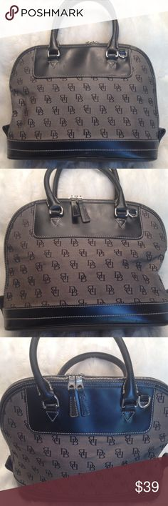 DOONEY&BOURKE Monogrammed Satchel Authentic. Has some faint scratch marks shown  in pic. Liner needs some cleaning. Has few small white marks. Measures 9x12.5 Dooney & Bourke Bags Satchels