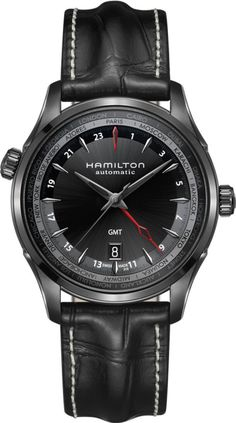 Hamilton Watch American Classic Jazzmaster GMT Limited Edition #basel-15 #bezel-fixed #bracelet-strap-leather #brand-hamilton #case-material-black-pvd #case-width-42mm #date-yes #delivery-timescale-call-us #dial-colour-black #gender-mens #gmt-yes #limited-edition-yes #luxury #movement-automatic #new-product-yes #official-stockist-for-hamilton-watches #packaging-hamilton-watch-packaging #style-dress #subcat-american-classic-jazzmaster #supplier-model-no-h32685731…