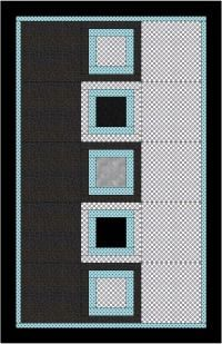 Week26 'All Boxed In Quilt' a design I created with a more masculine look. When you look around for a more masculine and modern design to make into a quilt you often don't find much of a choice.It is a simple but stunning design that is very quick to make. There are so many variations of blocks to choose from so don't hesitate to replace the center block with your preferre