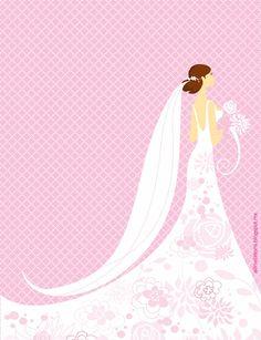Invitación Despedida de Soltera con novia posando con vestido adornado de flores