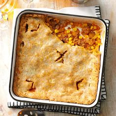 Beef Pot Pie Recipe -For more than a dozen years, this has been the No. 1 dish to serve company at our house. So far, everyone who has tried it has given it a thumbs-up rating. Pie Recipes, Casserole Recipes, Cooking Recipes, Casserole Dishes, Flour Recipes, Breakfast Casserole, Yummy Recipes, Chicken Recipes, One Pot Dinners