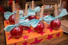 Candy Apples from a Circus Carnival Baby Shower via Kara's Party Ideas KarasPartyIdeas.com (4)