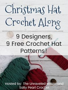 Christmas In July Hat Crochet Along   Free Crochet Hat Patterns from 9 Awesome Designers   The Unraveled Mitten   Starts July 25, 2018