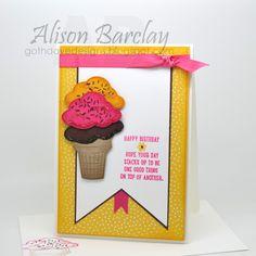 Gothdove Designs - Alison Barclay  - Stampin' Up! Sprinkles of Life #stampinup #stampinupaustralia #sprinklesoflife #icecream #gelato #birthday #card
