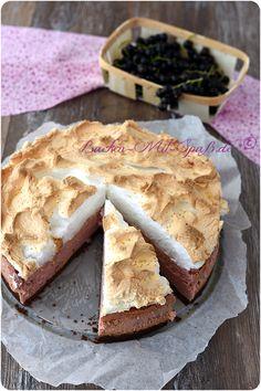 Ríbezle tvarohový koláč s pusinky