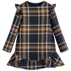 d7bdd70c8f8e Blue   Beige Check Dress for Girl by Pili Carrera. Discover more beautiful  designer Dresses for kids online