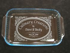 Etched Personalized Pyrex 9x13 Glass Baking Dish w Lid | eBay