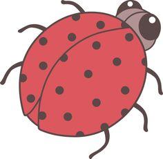 Cute Red Ladybug Clip Art