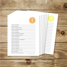 Free Printable. Ask the same 20 questions year after year (1-18, but probably age 3 or 4 is a great age to start) and see how your child's responses change year to year. Makes a great keepsake to give to them when they turn 18. writing, writing ideas, creative writing ideas Blog Topics