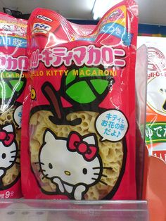 Hello Kitty macaroni. shawn and aiden would shit if i made this for dinner!