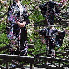 Pas cher Noir Vintage traditionnelle Yukata japonais Haori Kimono Obi vêtements robe une taille livraison gratuite, Acheter  Vêtements asiatiques et des Îles du pacifique de qualité directement des fournisseurs de Chine: Japonais tradition style robe femelle de soie tissu vintage kimono Kaftan Yukata kimono robe traditionnel japonais  S&#