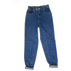 80s High Waist Dark Wash Blue Jeans Denim Tapered Leg Boyfriend Mom... ($56) ❤ liked on Polyvore featuring jeans, pants, bottoms, trousers, 80s jeans, vintage boyfriend jeans, boyfriend fit jeans, blue boyfriend jeans and high-waisted jeans