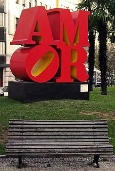 LOVE , AMOR. Going to be at the art museum steps for the next four months from pope visit ❤️