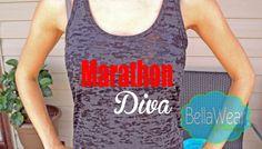 Marathon Diva - Burnout Racerback Tank - Tank Top - Fitness - Running - Workout Tank - Gym