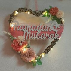 heart rattan wreath ramadan/eid mubarak, Ramadan decorations, ramadan wreath with LED lights, ramadan decor, ramadan mubarak cm Batteries are included. The wreath can be made with different signs. Different Signs, Duaa Islam, Ramadan Decorations, Ramadan Mubarak, Heart Wreath, Gift Baskets, Rattan, All Things, Islamic