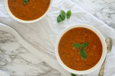 Vegan Tomato Soup Recipe | Dairy-Free + Delicious | Chasing Vibrance Homemade Tomato Basil Soup, Vegan Tomato Soup, Tomato Tortellini Soup, Canned Tomato Soup, Tomato Soup Recipes, Healthy Soup Recipes, Vegan Recipes, Curried Butternut Squash Soup, Grass Fed Butter