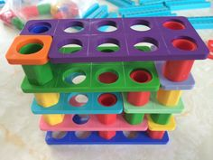 - A tower of different bonds to ten. Made by Helen Eaton! A tower of different bonds to ten. Made by Helen Eaton! Year 1 Maths, Early Years Maths, Early Years Classroom, Early Math, Math Numbers, Teaching Numbers, Teaching Math, Kindergarten Math, Numicon Activities