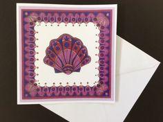 Purple Seashell Greeting Card