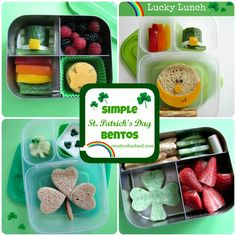Simple St. Patrick's Day Bento Lunches on creativefunfood.com