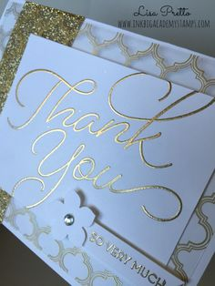 Stampin'Up! So Very Much stamp set, thank you card, saleabration, free with a $50 order #lisapretto #inkbigacademystamps