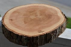 Rustic Wood Slab from Tree Slice from Tree Trunk by ChateauRadford, $19.00