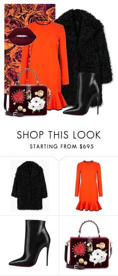 """""""Pumpkin Spice #6"""" by aleks-stanisavljevic ❤ liked on Polyvore featuring MANGO, Victoria, Victoria Beckham, Christian Louboutin and Dolce&Gabbana"""
