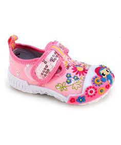 Look what I found on #zulily! Pink Flower Mary Jane by Frisky Shoes #zulilyfinds