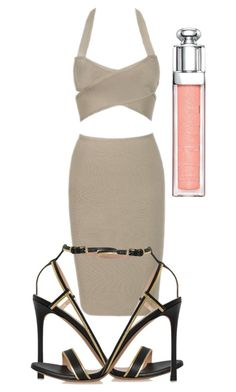 """""""Kim K"""" by vinithavallabh ❤ liked on Polyvore featuring Valentino and Christian Dior"""