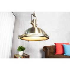 Moderne hanglamp industrial brons 45cm - 22855