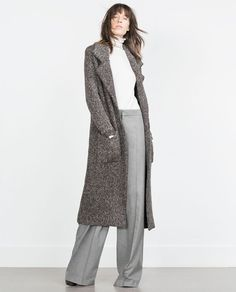 ZARA - NEW IN - COAT WITH LARGE LAPELS