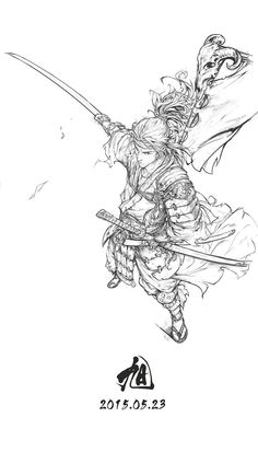 Inktober Art inspiration and artwork drawing Character Concept, Character Art, Concept Art, Drawing Sketches, Drawings, Poses References, Samurai Art, Anime Style, Drawing Reference