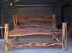 king size log bed | 00 king size bed and two bedside tables 1700 00