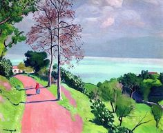 Albert Marquet(1875ー1947 fauvism period french painter)「The Road To Bougie」(1925)