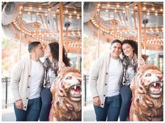 Because you can't NOT ride the Carousel when you see it during your engagement session :)