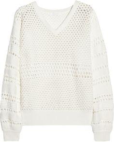 Chloé Open-knit cotton-blend sweater on shopstyle.com