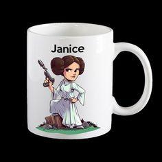 Personalised Princess Leia Star Wars Coffee Mug