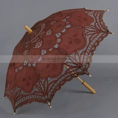 Brown Embroidered Cotton Wedding Umbrella Diy Wedding Reception, Wedding Gowns, Umbrella Wedding, Wedding Umbrellas, Prom Accessories, Play Clay, Playing With Hair, Steampunk Wedding, Create Your Own